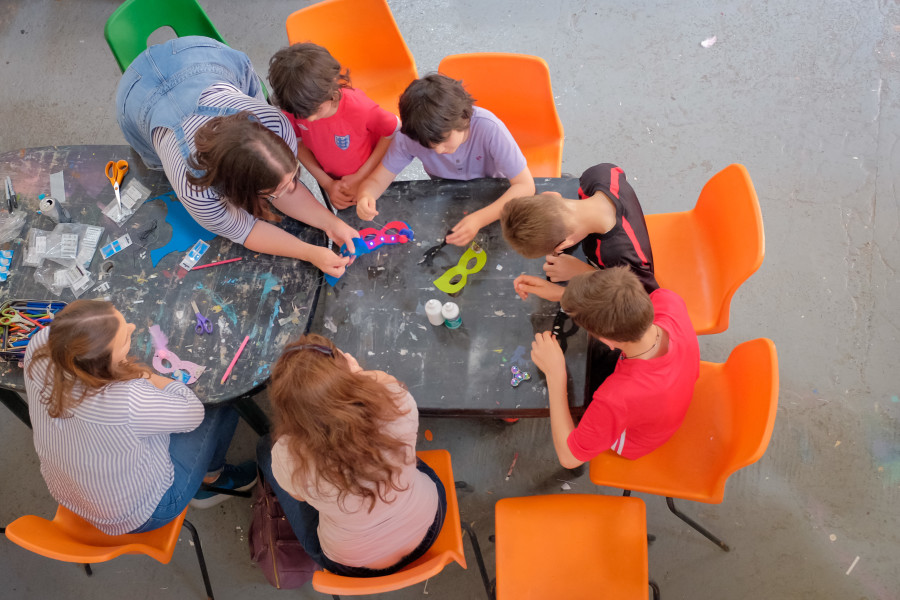 Image of Children at craft table