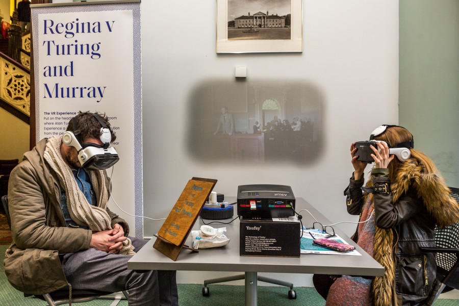 Image of Participants wearing VR headsets at SHIFT event