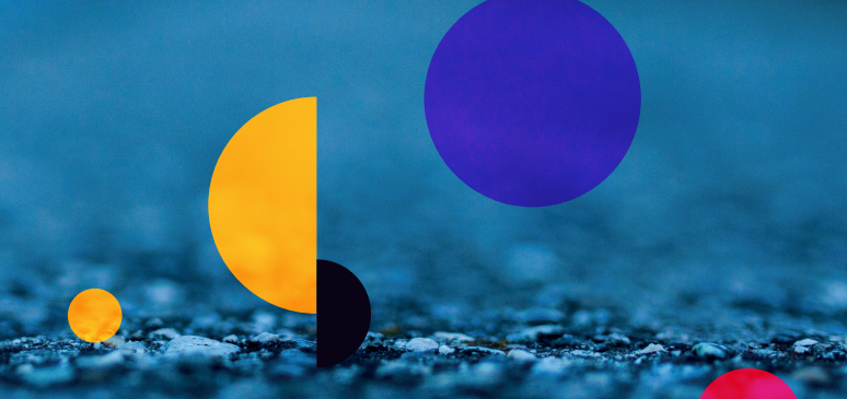 Image of Abstract Cinegi header image - semi-circles on blue background