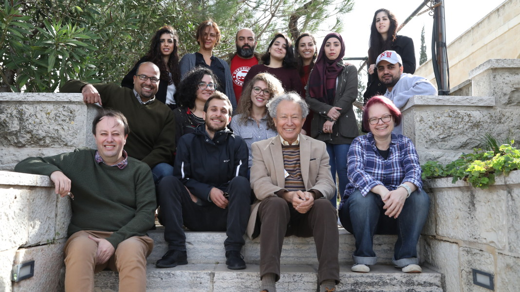 "Image of Participants and trainers at Palestine ""Visual Art: A Flourishing Field"" (VAFF) project"