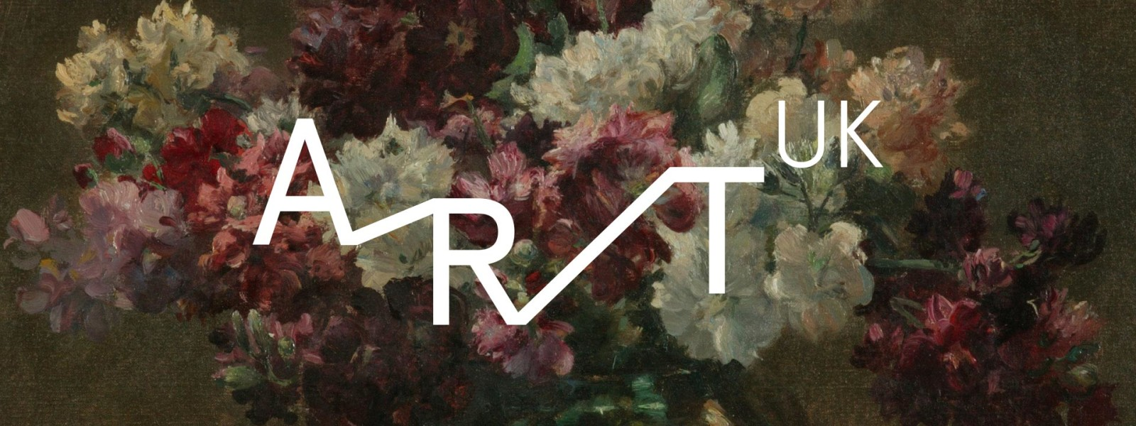 Image of Art UK logo on floral background