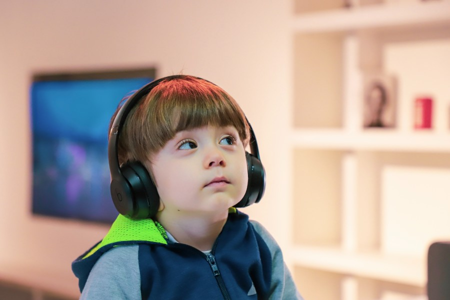 Image of Boy in headphones