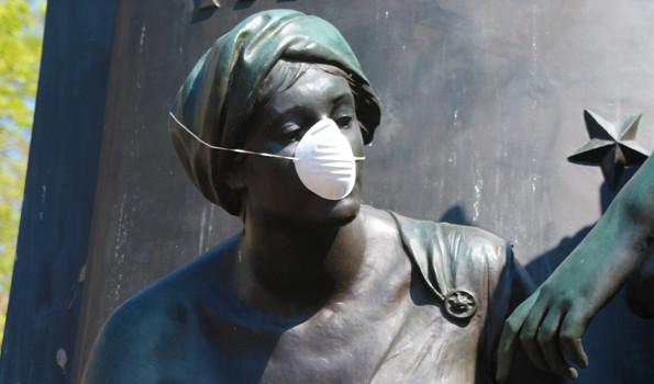 Image of Statue Wearing Mask.jpg